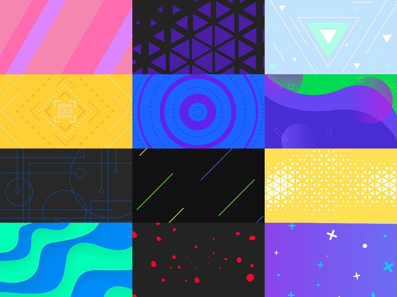 100个时尚绚丽孟菲斯风格的背景底纹纹理PS模板插图(3)