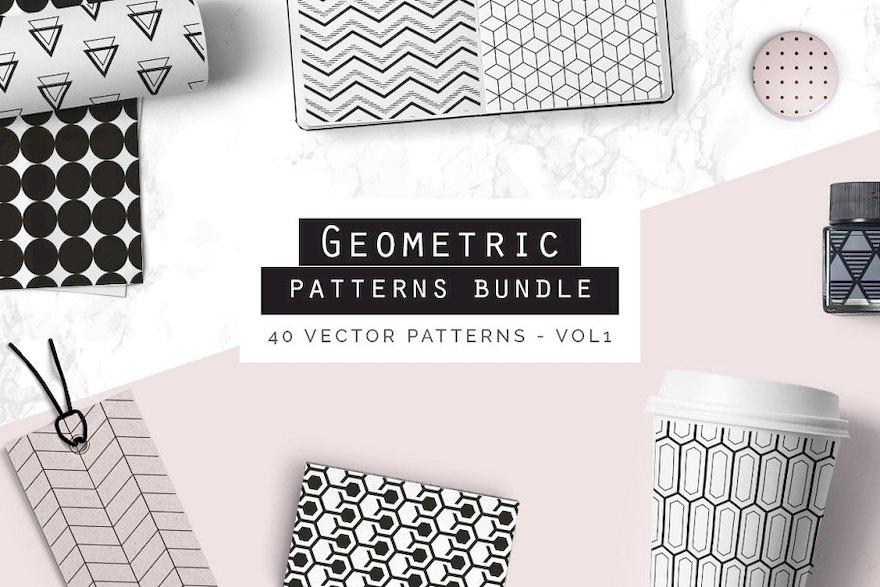 320种几何图形元素的背景图案AI设计模板插图(7)