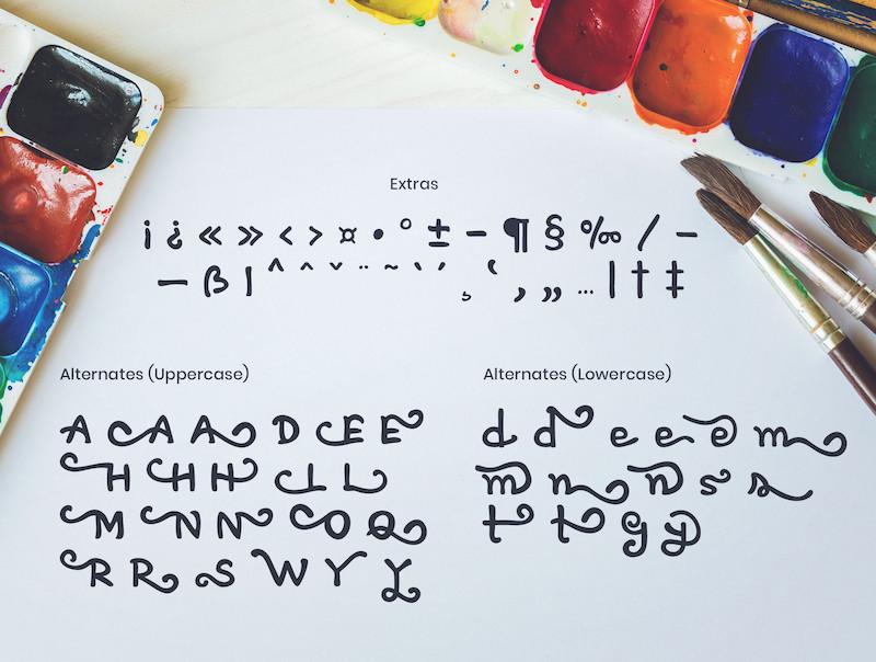 具有艺术效果的英文手写字体Artless插图(6)