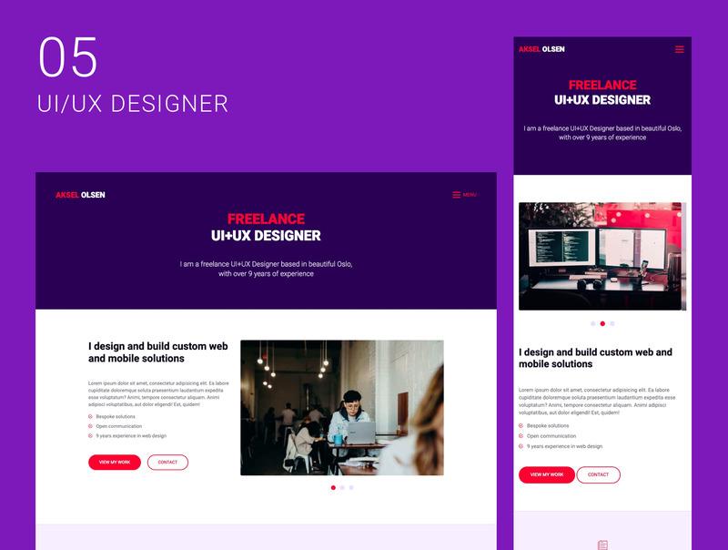 创意自由职业者的10个单页面网站集合插图(6)