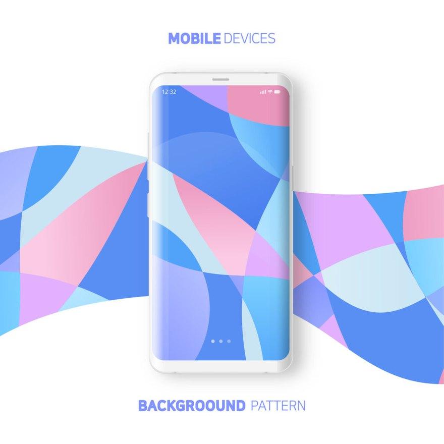 手机新品发布海报设计模板Illustrator宣传海报模板插图(5)