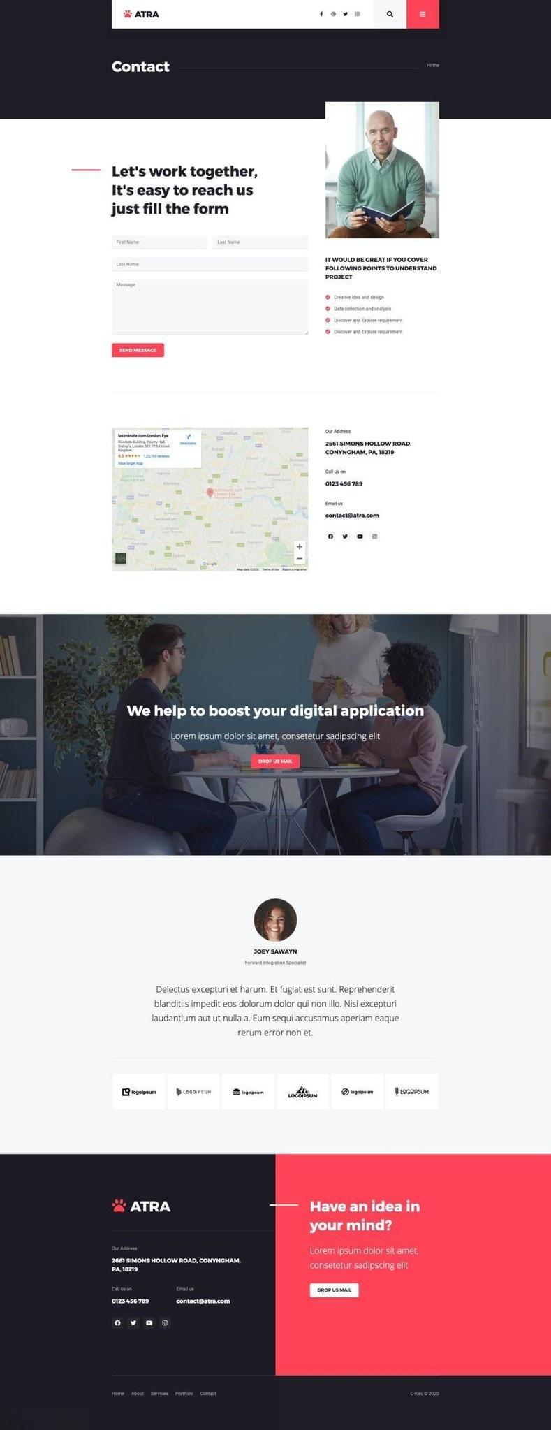 代理商企业网站WordPress主题Elementor模板插图(8)
