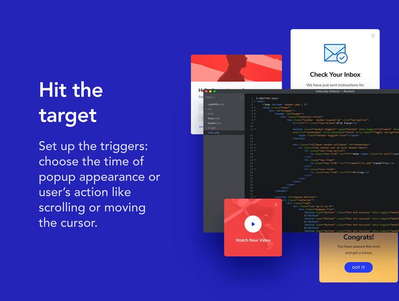 网页弹窗设计素材XD设计素材+html/css前端代码插图(7)