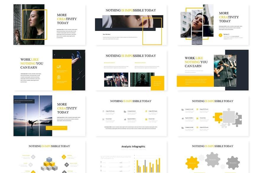 多功能演示业务或个人需求的极简风格创意Keynote模板插图(2)