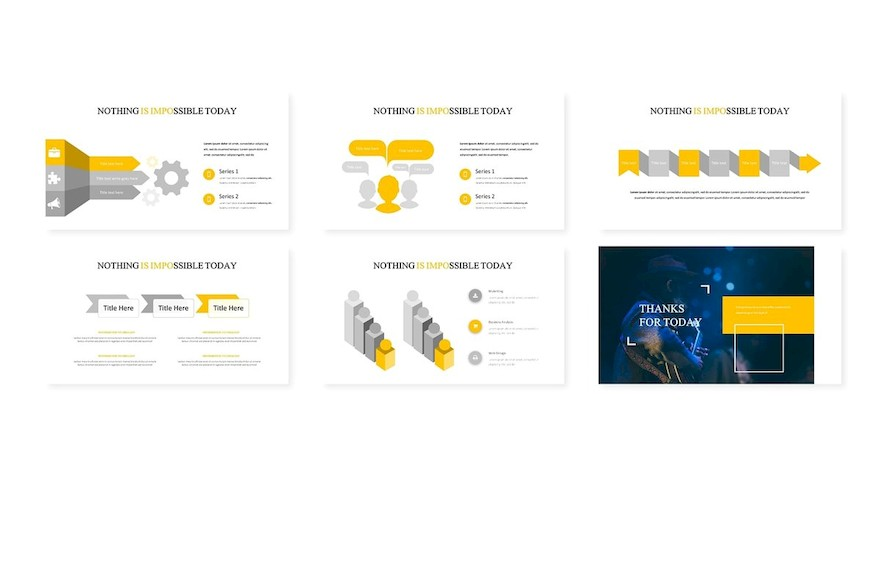 多功能演示业务或个人需求的极简风格创意Keynote模板插图(3)