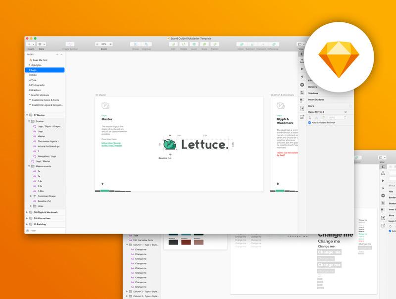 简单易用的设计师品牌设计提案ppt/sketch模板插图(5)