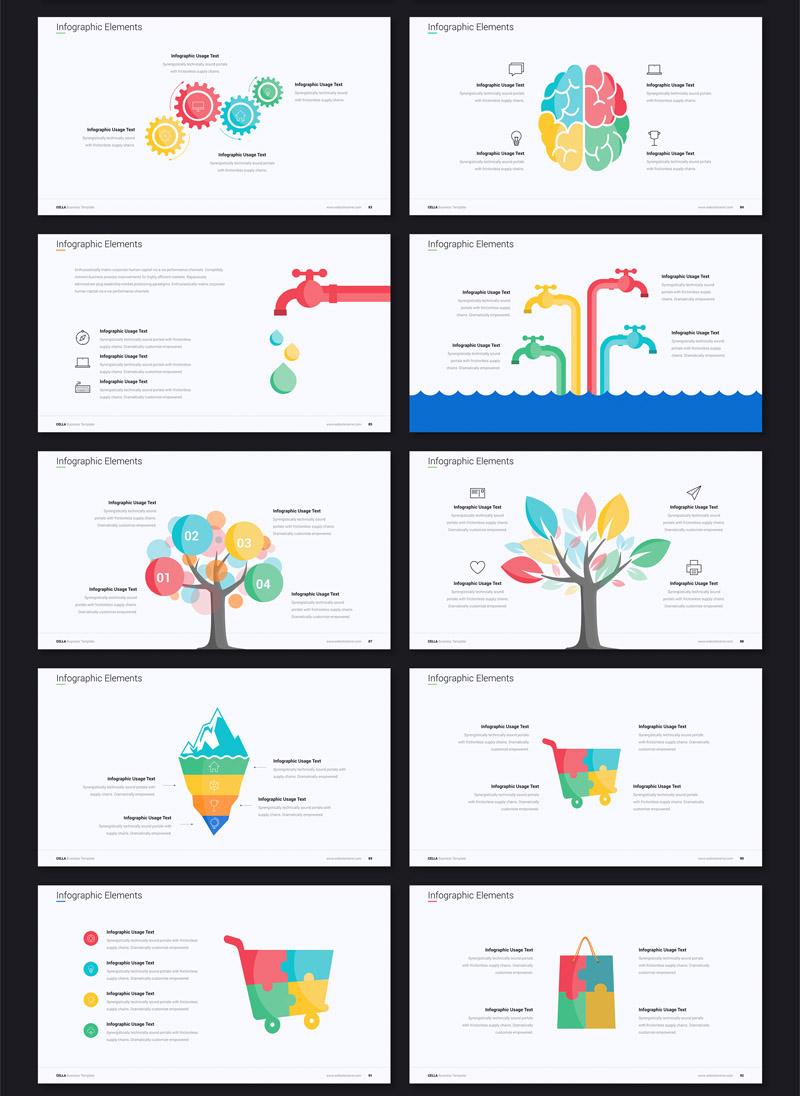 独特有趣的多功能现代动画商务Keynote&ppt模板插图(5)
