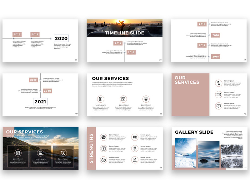 用于公司产品介绍展示的设计精美的Keynote模板插图(7)