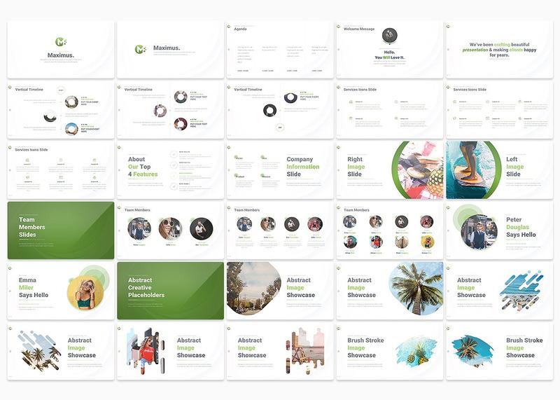 多用途多种配色的商业PPT模板——MAXIMUS插图(1)