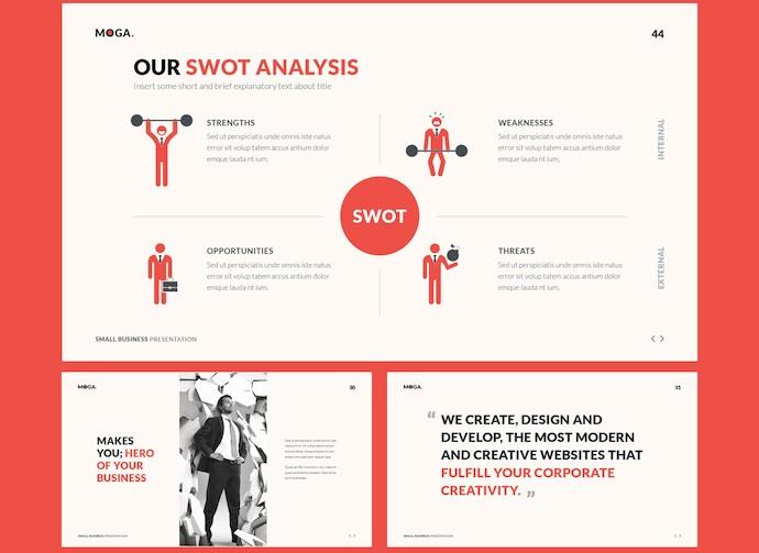 适用于小型企业的创意ppt商务模板插图(2)