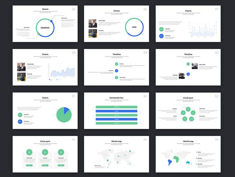 4种配色方案的现代创意keynote商务模板插图(5)