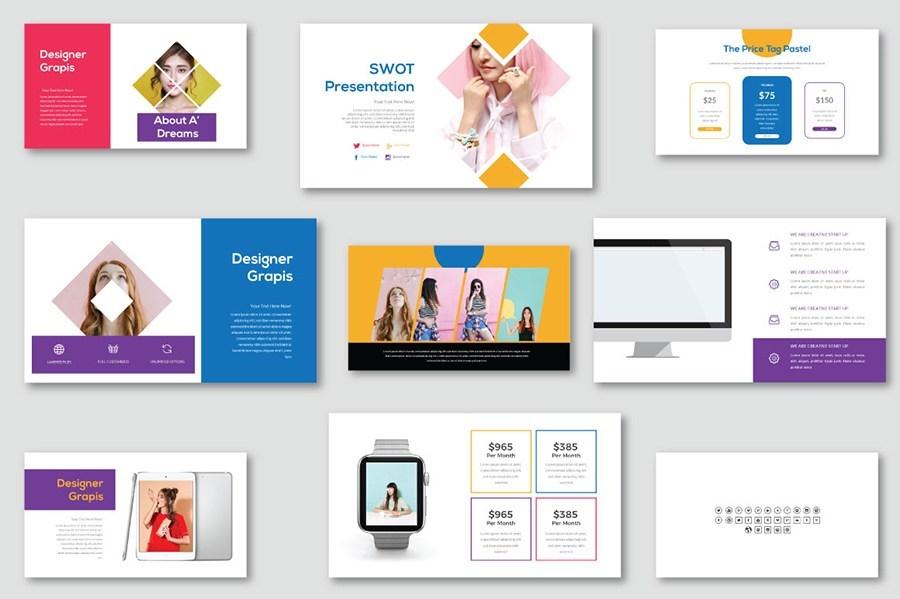 唯美专业的公司品牌推广ppt设计模板插图(1)