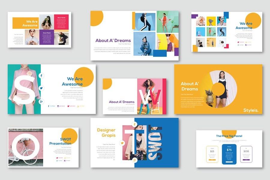 唯美专业的公司品牌推广ppt设计模板插图(4)