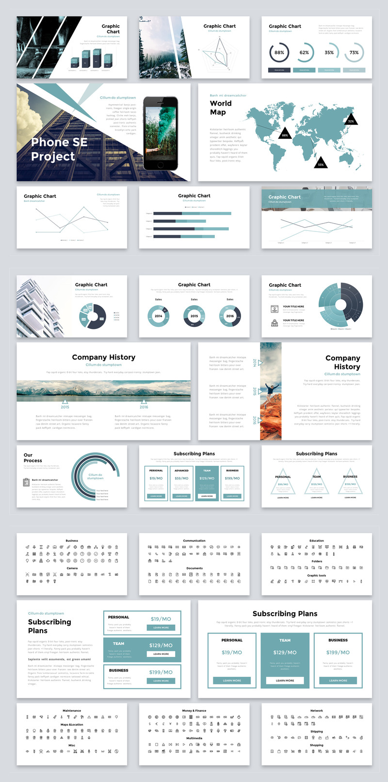 设计精美的产品提案多功能动画ppt模板插图(3)