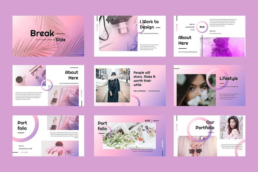 充满现代感和时尚感的PPT演示文稿插图(5)