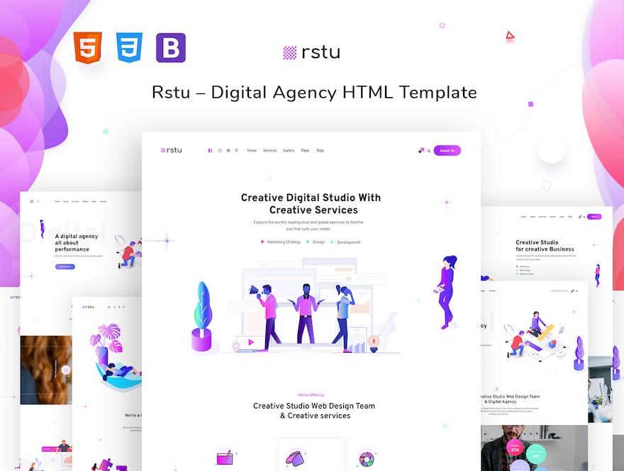 适用于展示作品和设计的个人网站html模板