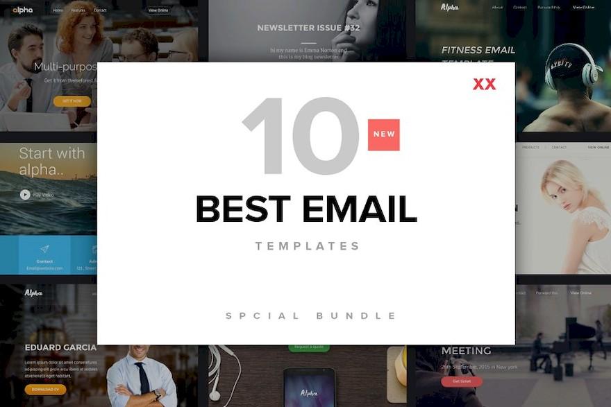 一组简洁时尚的电子邮件设计模板