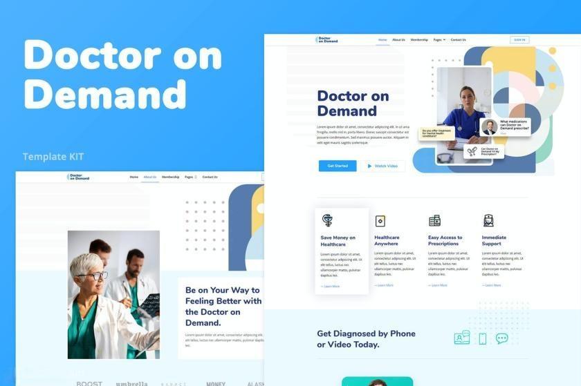医疗咨询主题网站WordPress主题Elementor模板插图
