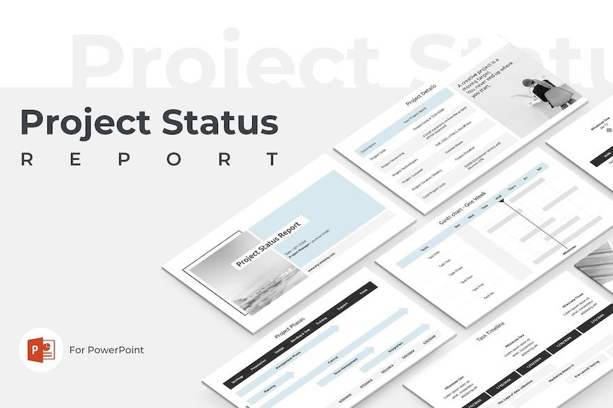 项目状态报告ppt模板[PowerPoint/3.3 MB]百度云资源下载