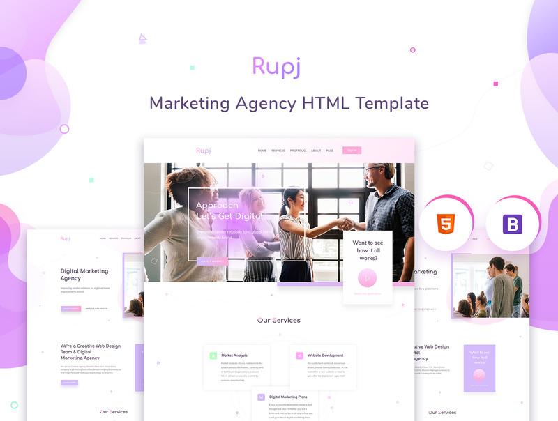 设计精美的作品展示html网站模板