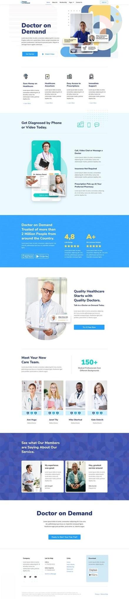 医疗咨询主题网站WordPress主题Elementor模板插图(1)