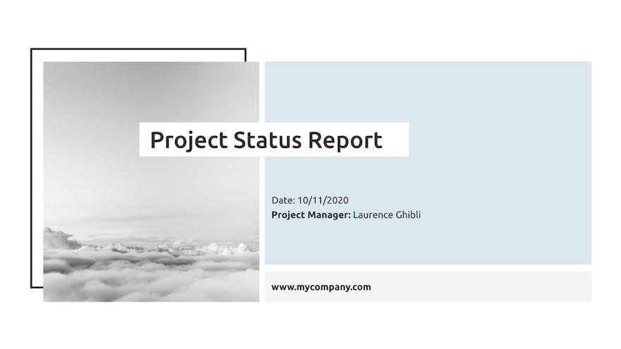 项目状态报告ppt模板[PowerPoint/3.3 MB]百度云资源下载插图(1)
