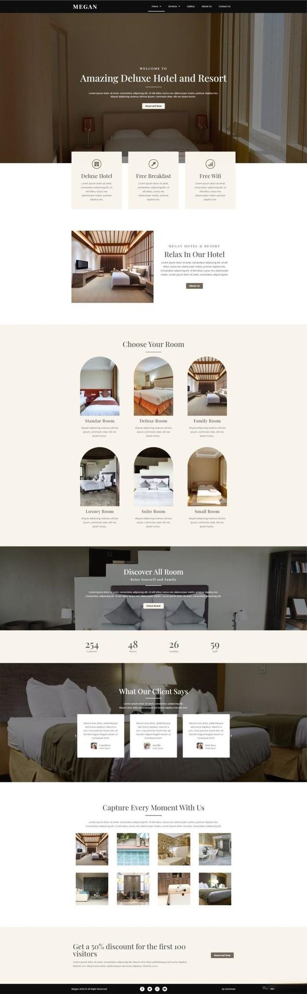 酒店预订网站WordPress主题Elementor模板插图(1)