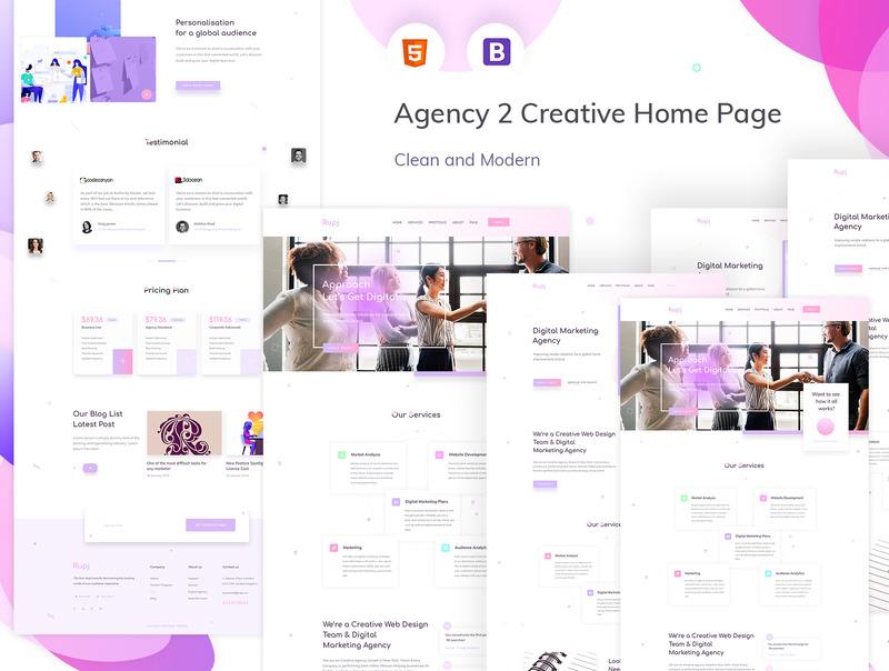设计精美的作品展示html网站模板插图