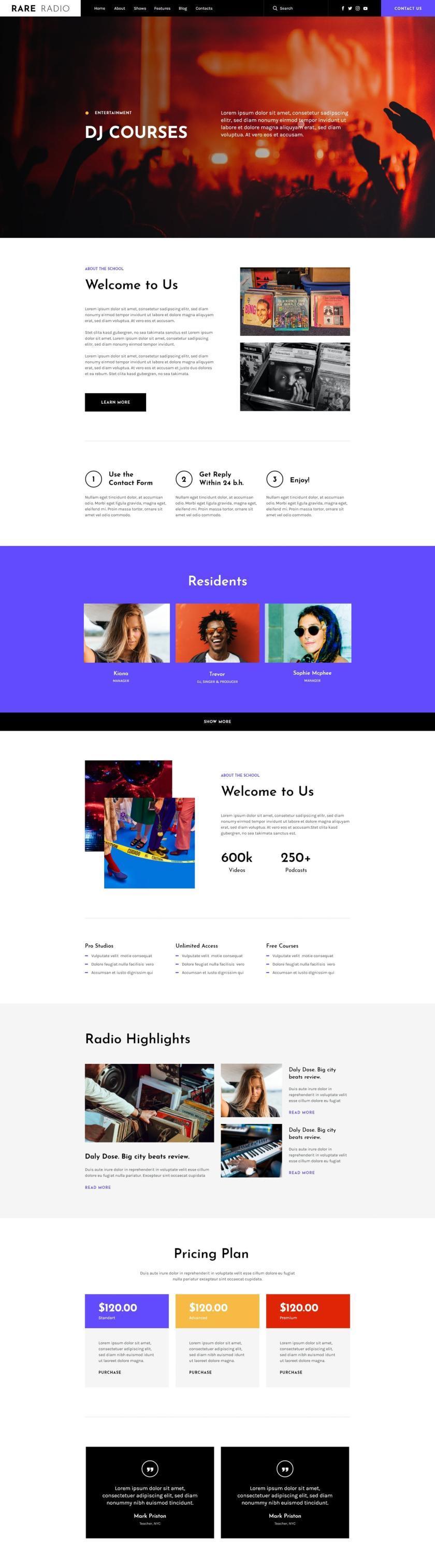 电台音乐网站WordPress主题Elementor模板插图(3)