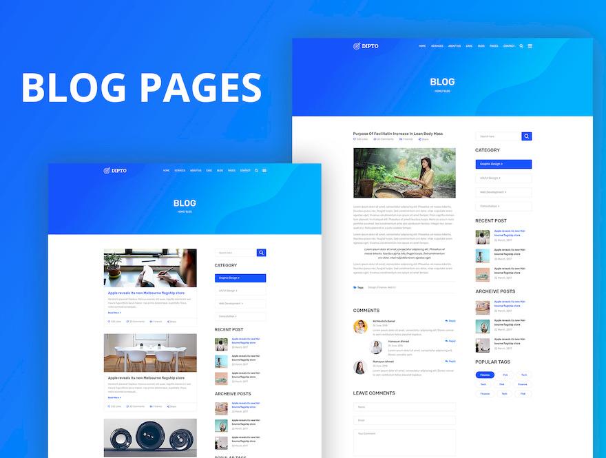 专门为企业网站设计的html模板插图(2)