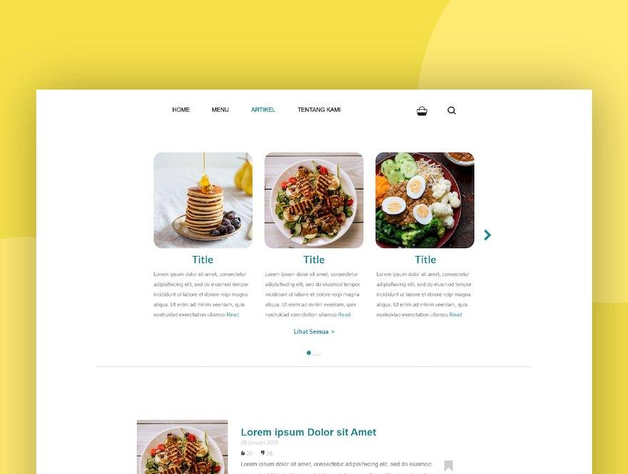 健康食品网站的设计和前端模板插图(2)