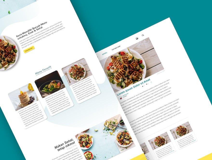 健康食品网站的设计和前端模板插图(3)
