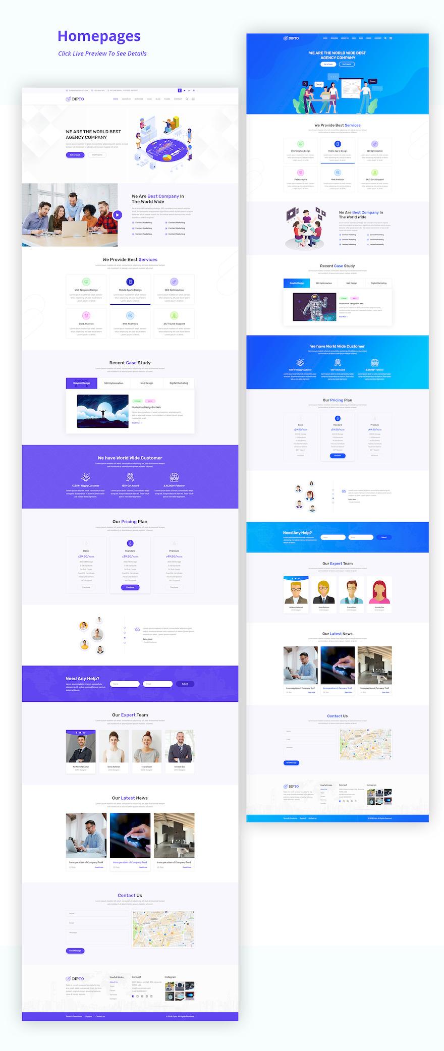 专门为企业网站设计的html模板插图(4)