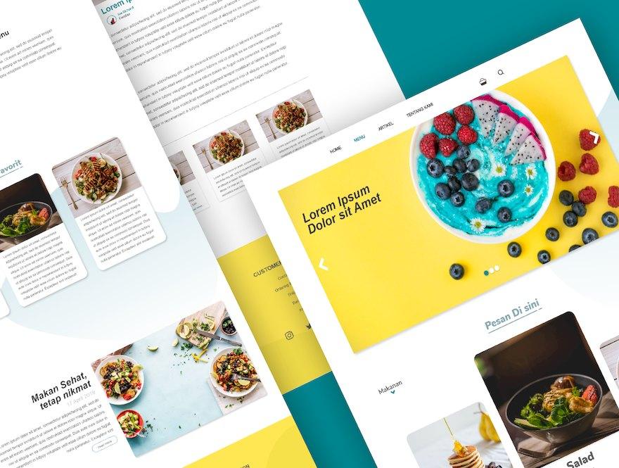 健康食品网站的设计和前端模板插图(4)