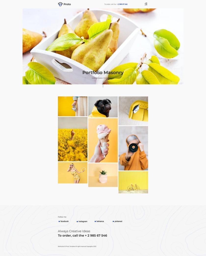 摄影师个人简历网站WordPress Elementor模板插图(4)