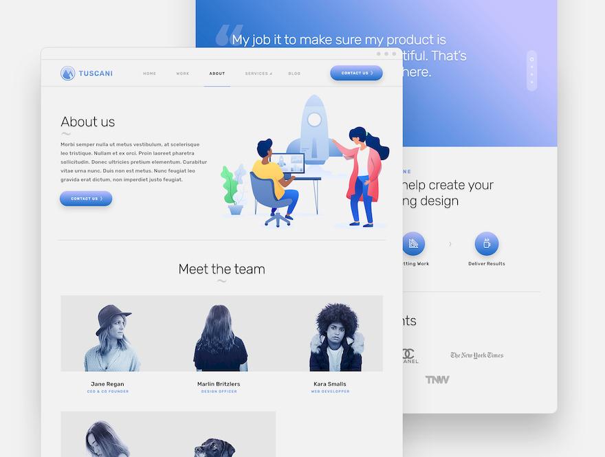 富有创意的公司企业网站html设计模板插图(5)