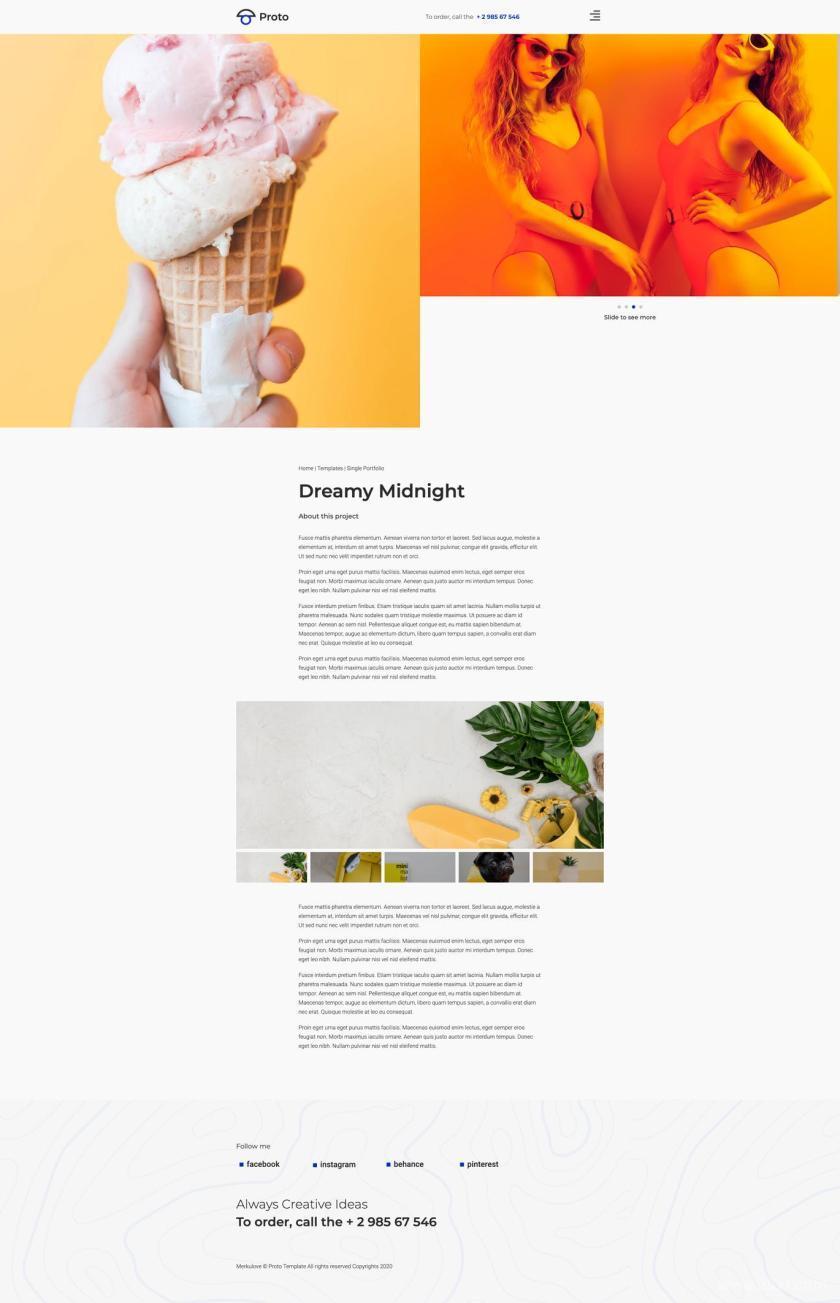 摄影师个人简历网站WordPress Elementor模板插图(5)