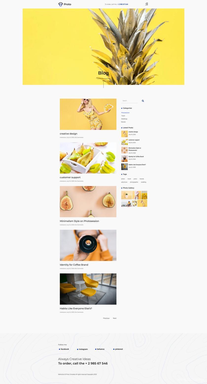摄影师个人简历网站WordPress Elementor模板插图(6)