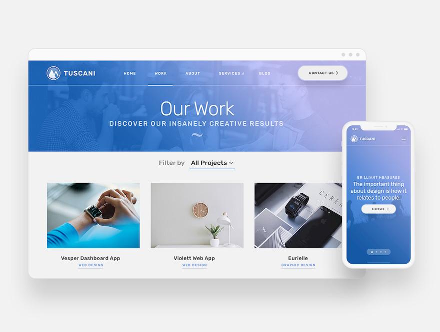 富有创意的公司企业网站html设计模板插图(7)