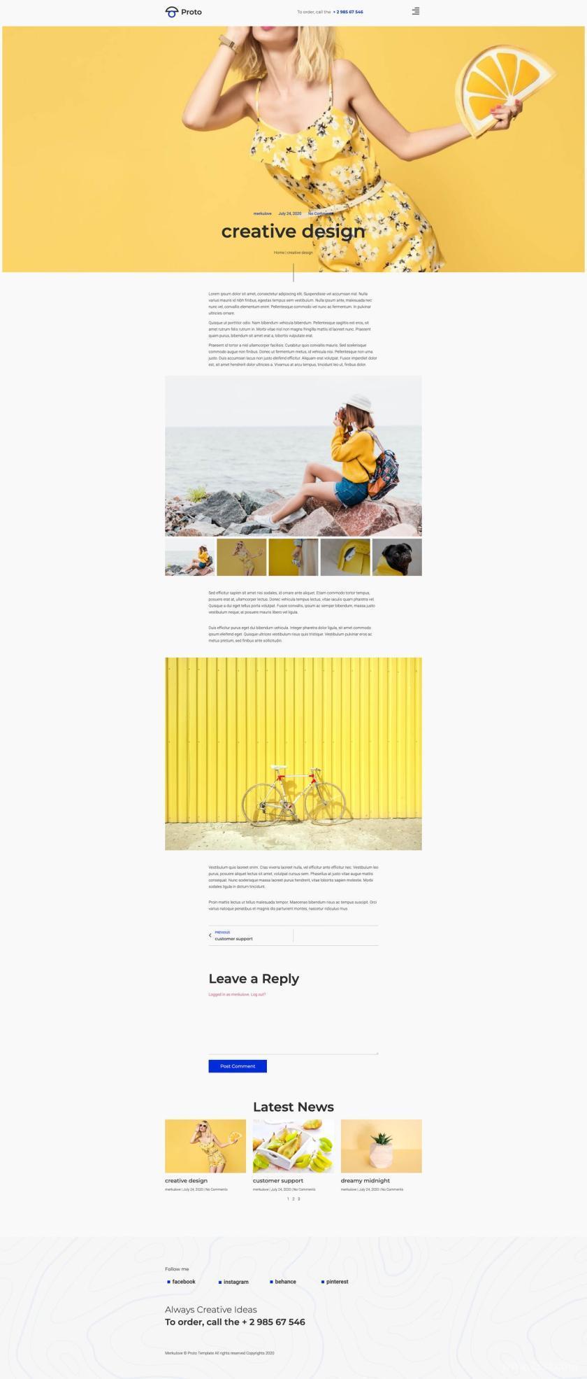 摄影师个人简历网站WordPress Elementor模板插图(7)