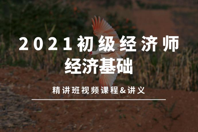 2021初级经济师-经济基础(精讲班视频课程+讲义)[mp4/10.62GB]百度网盘下载