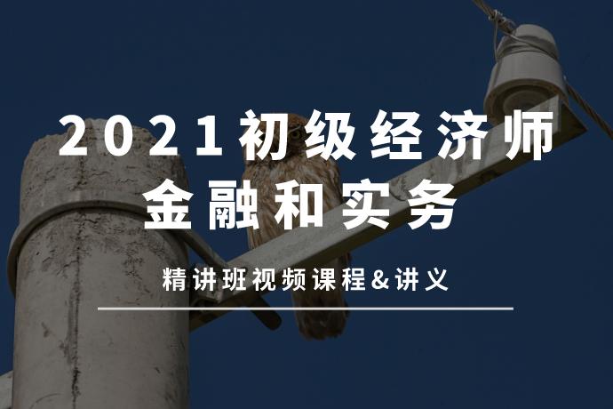 2021初级经济师-金融专业知识和实务(精讲班视频课程+讲义)[mp4/4.23GB]百度网盘下载