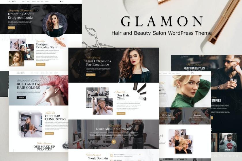 美妆店、理发店、SPA馆等的官方网站WordPress主题模板