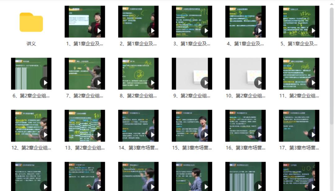 2021初级经济师-工商管理(精讲班视频课程+讲义)[mp4/7.42GB]百度网盘下载