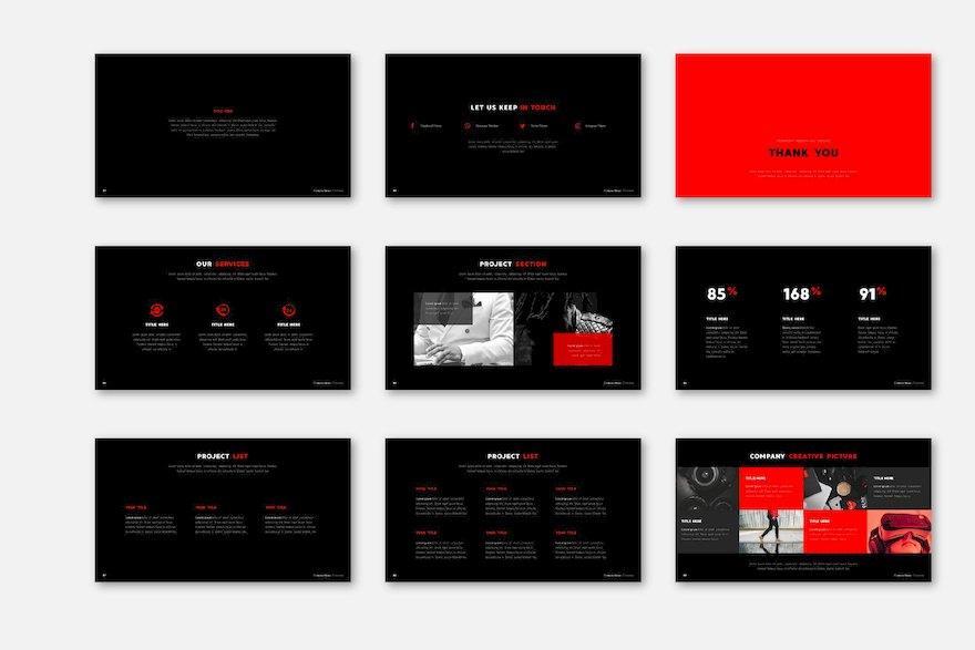 深色简洁的设计师工作汇报ppt模板[PowerPoint/546KB]百度网盘下载