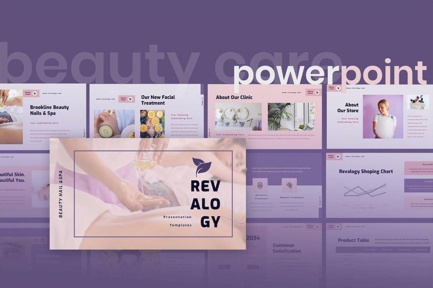 时尚美容行业PPT模板[PowerPoint/8.3MB]百度网盘下载