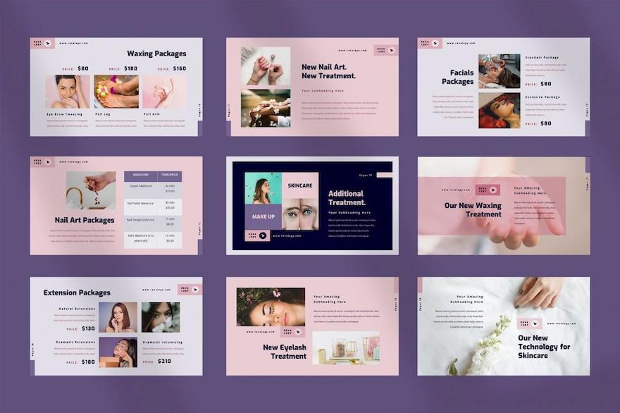 时尚美容行业PPT模板[PowerPoint/8.3MB]百度网盘下载插图(2)