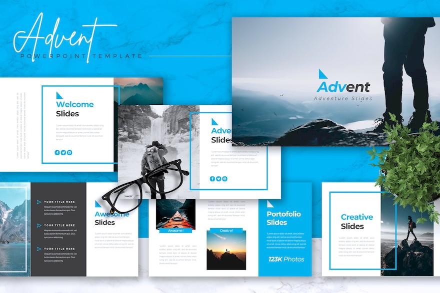 旅游冒险主题PPT模板[PowerPoint/3.6MB]百度网盘下载