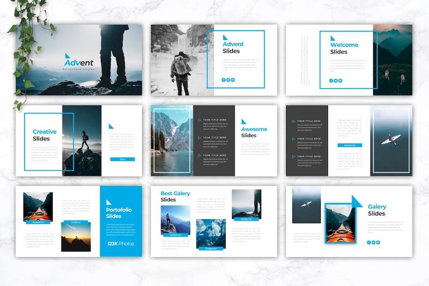 旅游冒险主题PPT模板[PowerPoint/3.6MB]百度网盘下载插图(1)