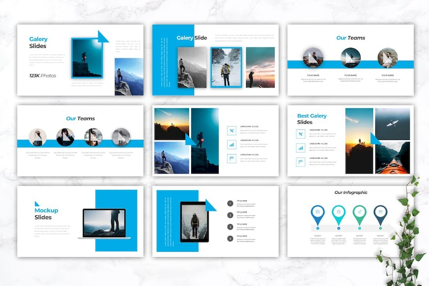 旅游冒险主题PPT模板[PowerPoint/3.6MB]百度网盘下载插图(2)